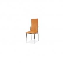 Židle jídelní kovová čalouněná oranžová H-237