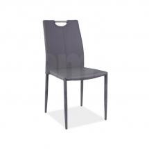 Židle jídelní kovová čalouněná šedá H-322