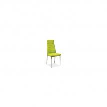 Židle jídelní kovová čalouněná zelená H-261