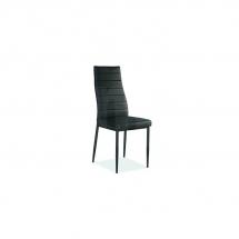 Židle jídelní kovová čalouněná černá H-261 C