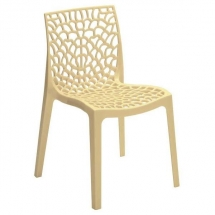 Židle jídelní plastová avorio GRUVYER