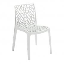 Židle jídelní plastová bílá GRUVYER