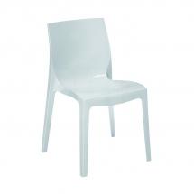 Židle jídelní plastová bílá ICE