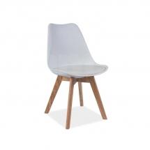 Židle jídelní plastová bílá KRIS