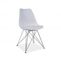 Židle jídelní plastová bílá TIM