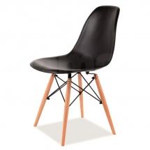 Židle jídelní plastová černá ENZO