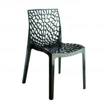 Židle jídelní plastová antracitová GRUVYER