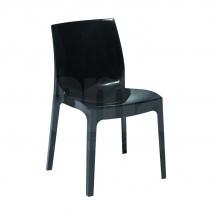 Židle jídelní plastová černá ICE