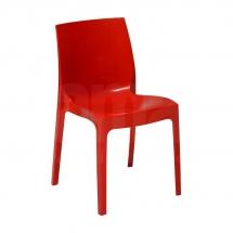 Židle jídelní plastová červená ICE