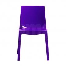 Židle jídelní plastová fialová ICE