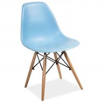 Židle jídelní plastová modrá ENZO
