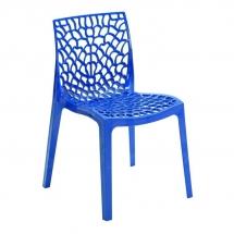 Židle jídelní plastová modrá GRUVYER