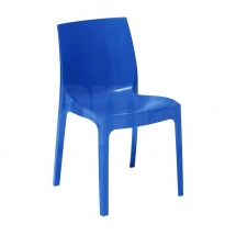 Židle jídelní plastová modrá ICE