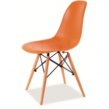 Židle jídelní plastová oranžová ENZO