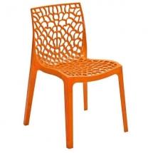 Židle jídelní plastová růžová GRUVYER