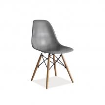 Židle jídelní plastová šedá ENZO