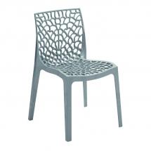 Židle jídelní plastová šedá GRUVYER