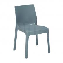 Židle jídelní plastová šedá ICE