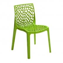 Židle jídelní plastová tmavá zelená GRUVYER