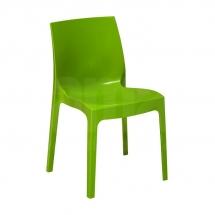 Židle jídelní plastová zelená ICE