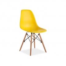 Židle jídelní plastová žlutá ENZO
