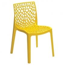Židle jídelní plastová žlutá GRUVYER