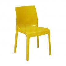 Židle jídelní plastová žlutá ICE