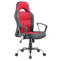 Židle kancelářská červená Q-033