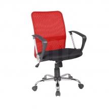 Židle kancelářská červená Q-078
