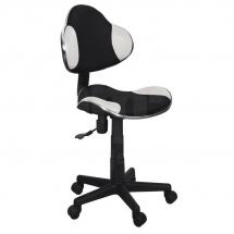 Židle kancelářská dětská černá/bílá Q-G2
