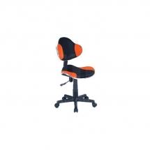Židle kancelářská dětská černá/oranžová Q-G2