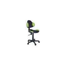 Židle kancelářská dětská černá/zelená Q-G2