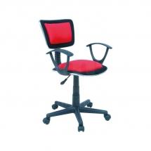 Židle kancelářská dětská červená Q-140