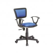 Židle kancelářská dětská modrá Q-140