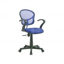 Židle kancelářská dětská modrá Q-141