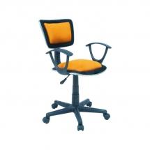 Židle kancelářská dětská oranžová Q-140