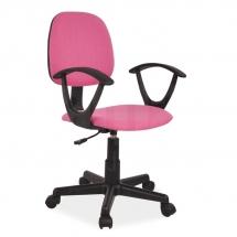 Židle kancelářská dětská růžová Q-149