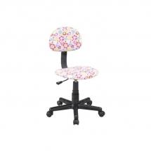 Židle kancelářská dětská růžová s květy Q-048