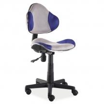 Židle kancelářská dětská šedá/modrá Q-G2