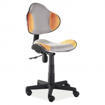 Židle kancelářská dětská šedá/oranžová Q-G2