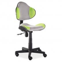 Židle kancelářská dětská šedá/zelená Q-G2