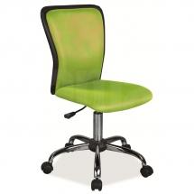 Židle kancelářská dětská zelená Q-099