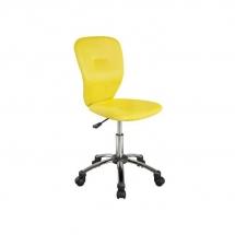 Židle kancelářská dětská žlutá Q-037
