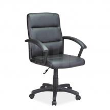 Židle kancelářská ecokůže černá Q-094
