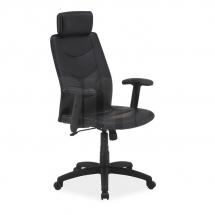 Židle kancelářská ecokůže černá Q-119
