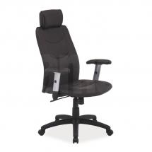Židle kancelářská ecokůže hnědá Q-119