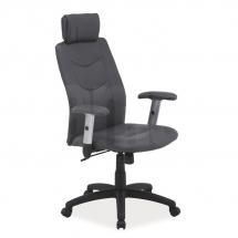 Židle kancelářská ecokůže šedá Q-119