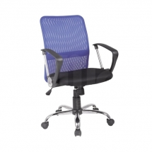 Židle kancelářská modrá Q-078