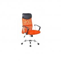Židle kancelářská oranžová Q-025