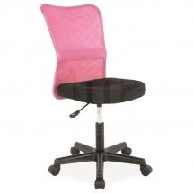 Židle kancelářská růžová Q-121